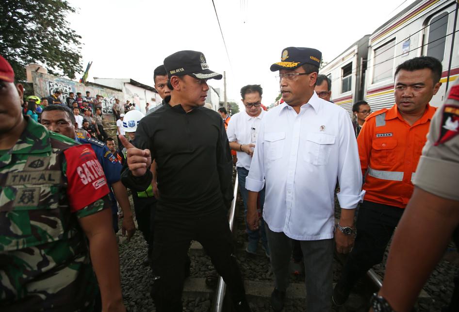 KRL Anjlok di Bogor